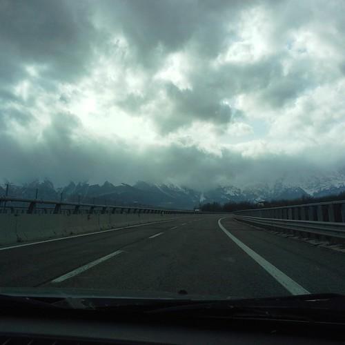 Il Gran Sasso dall'autostrada