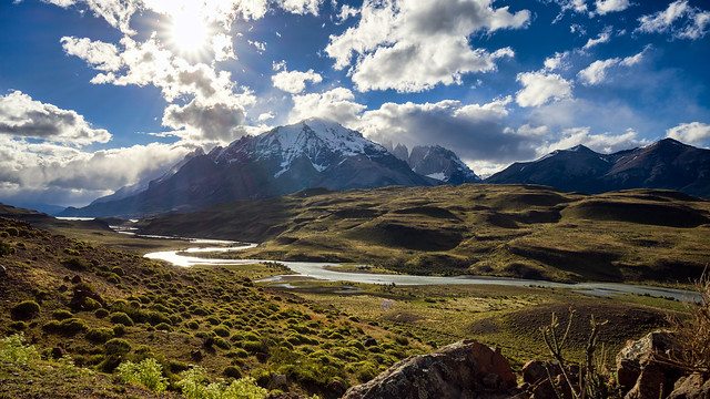 Rio Paine, Torres del Paine, Patagonia, Chile