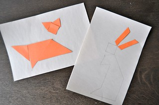 Forest Animal Tangrams Fox Rabbit