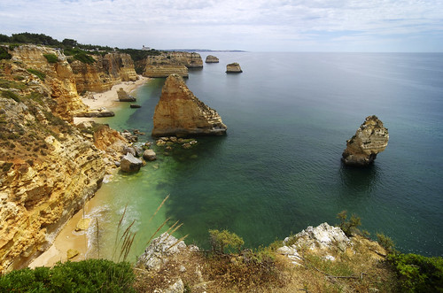 ocean trip light sea cliff sun praia beach portugal rock spring rocks mediterranean view may illumination cliffs da vista algarve overlook viewpoint portuguese province marinha praiadamarinha