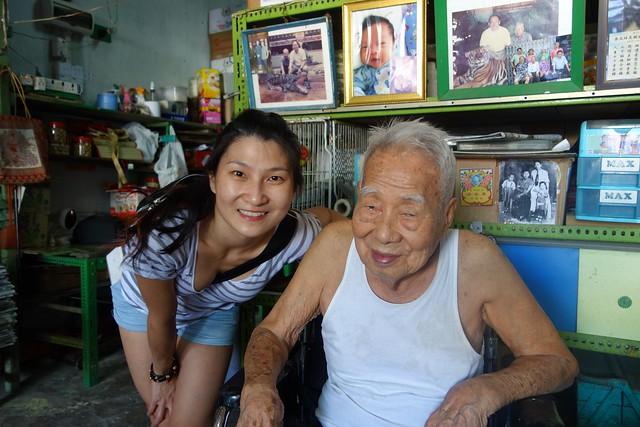 Grandpa & me. He looks happy!