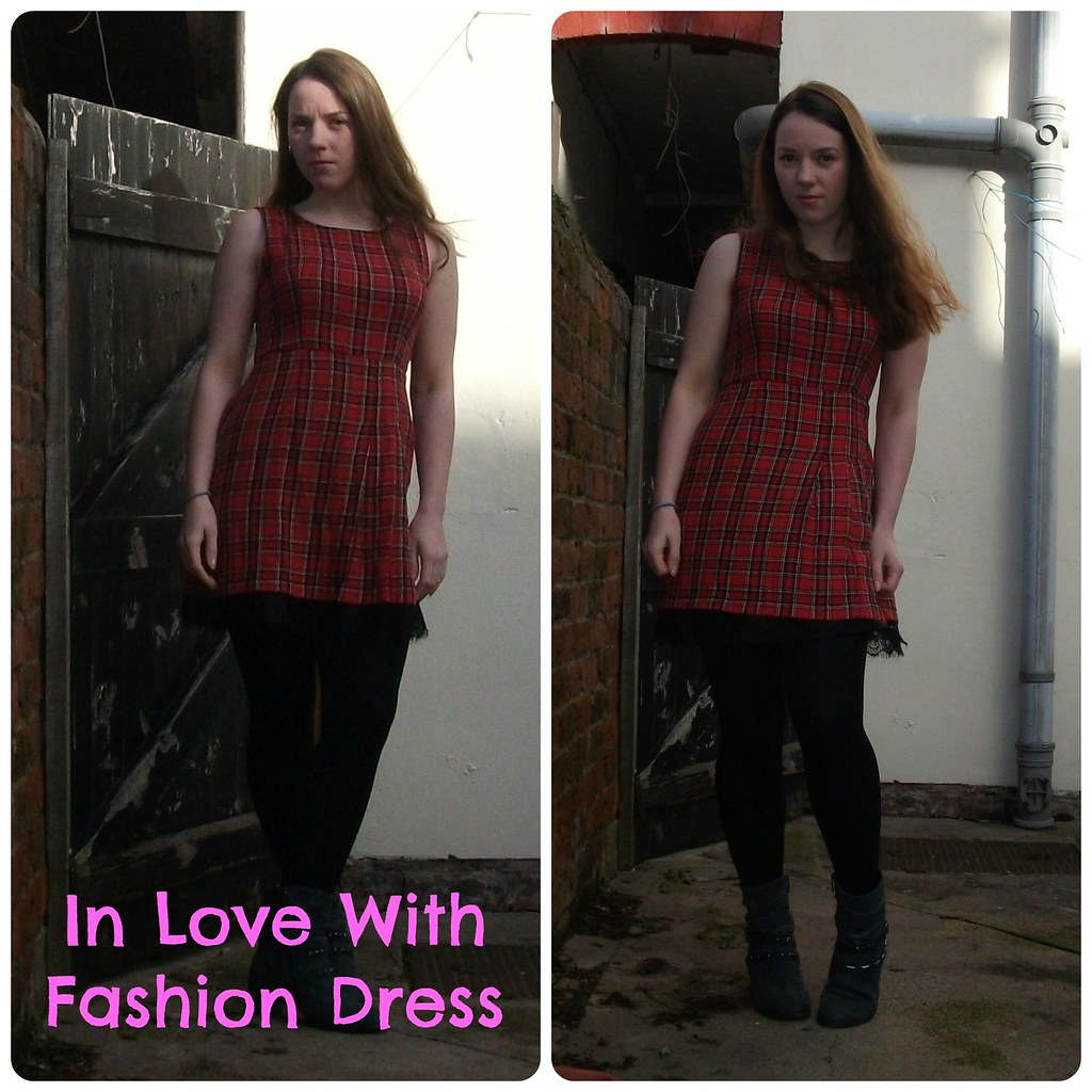 OOTD In Love With Fashion Tartan Dress