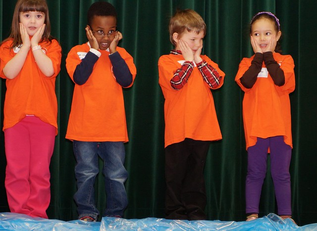 Little kindergartners performing