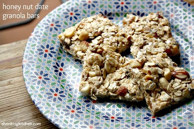 Honey Nut Date Granola Bars