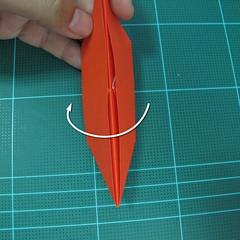 การพับกระดาษเป็นนกพิราบ (Origami pigeon) 00014