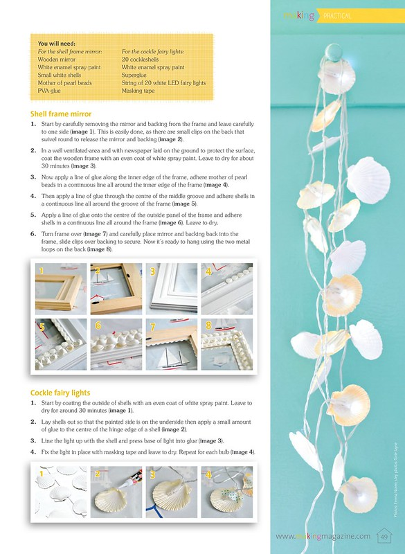 Shell lights & frame  as seen in Making Magazine