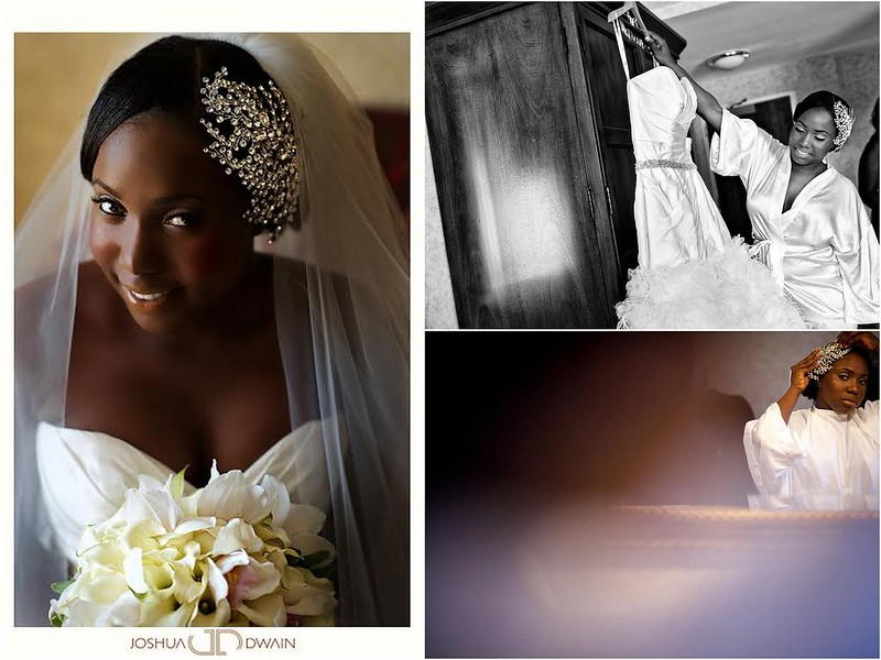 Vanessa wearing her Swarovski Crystal face framer from Bridal Styles Boutique, photos by Joshua Dwain