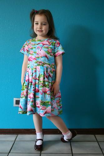 Flamingo kleedje voor Silke