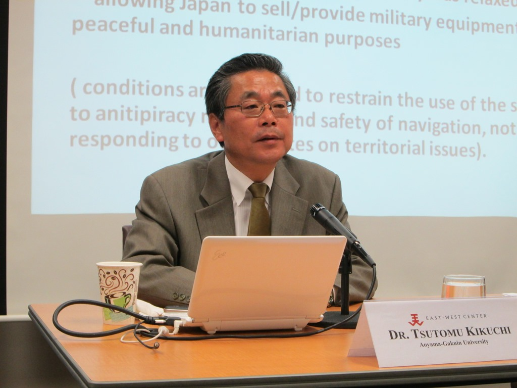 In his talk at the East-West Center, Dr. Tsutomu Kikuchi shared his expertise on Japan's engagement with ASEAN, and why it has taken on greater priority in Tokyo policy circles.