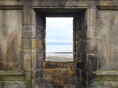 Ruined but reasonably intact church on the coastal path between Dalgety Bay and Aberdour...