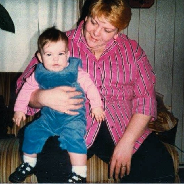 #tbt Mom and I.  See I've always been cute :)