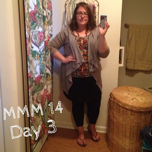 #mmmay14 #memademay day 3. Sorry for the rapid decline in photo quality! Me made leggings, skirt, and tank top.