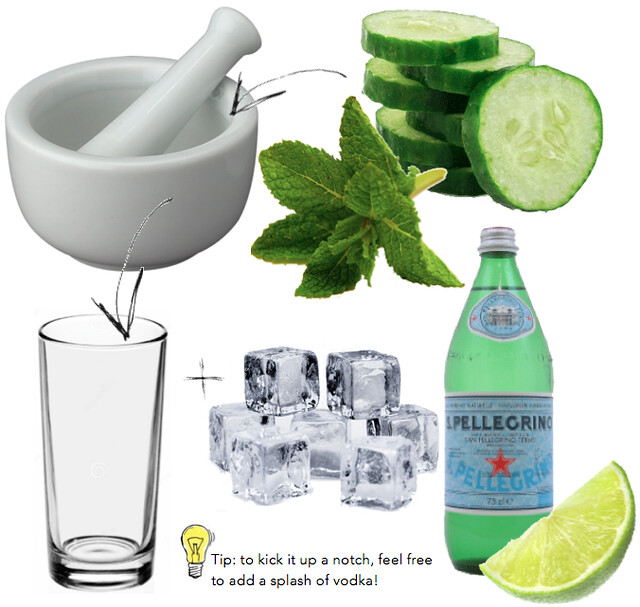 Cucumber Mint Lime Infused Seltzer Water
