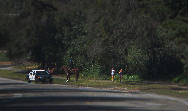 Golden Gate Park: SFPD Horse Cops and Runners - May 11, 2014