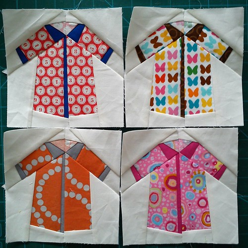 Paper pieced shirts