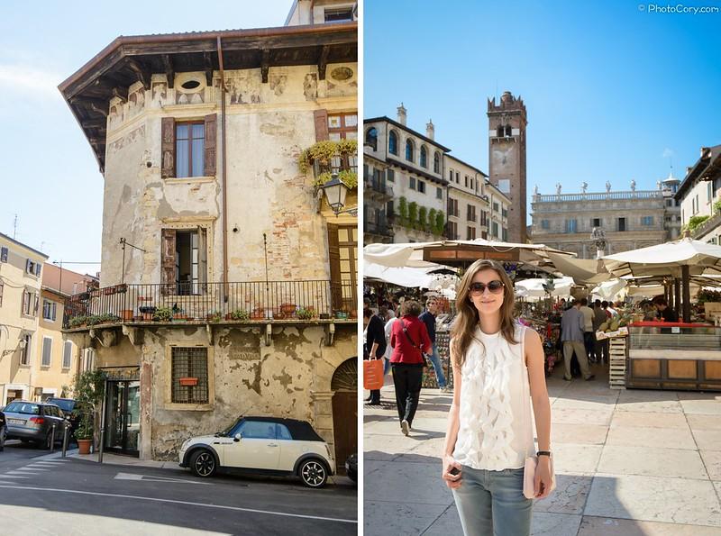 around Piazza Erbe, Verona