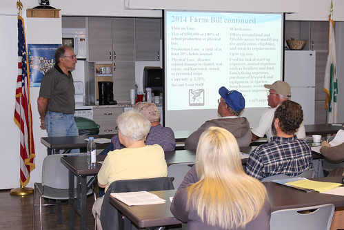 Clint Koble, Nevada Farm Service Agency State Executive Dir., addresses the public in a Farm Bill Road Show meeting in Gardnerville, Nev. NRCS photo.