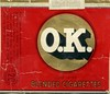 O. K. cork tipped blended cigarettes, 20 pack.