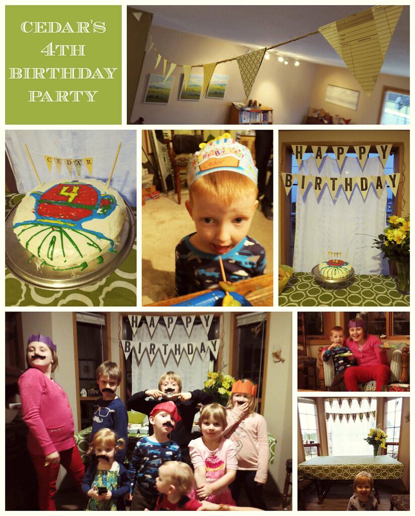 4th birthday party [cedar james]