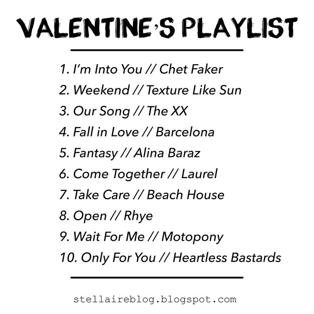 valentine's playlist