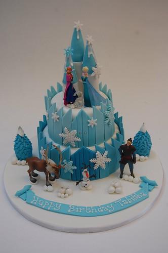 Deluxe Frozen Ice Castle Cake Beautiful Birthday Cakes