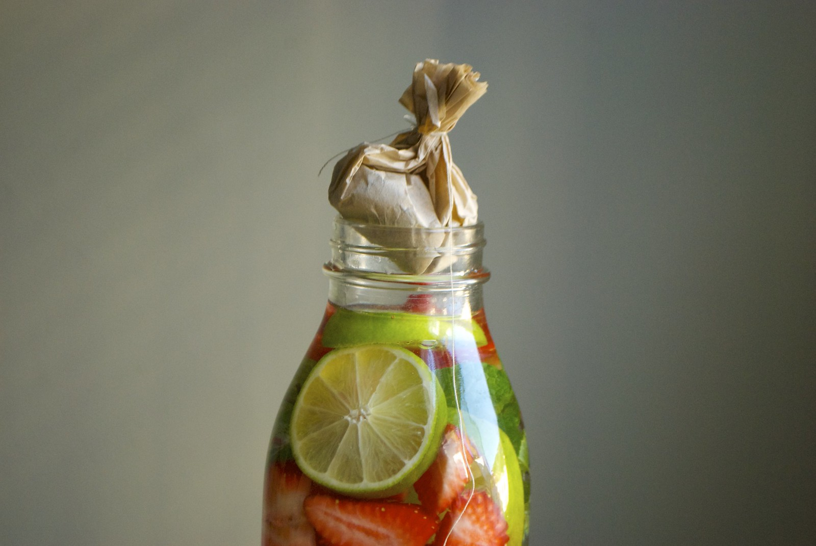 strawberry lime iced green tea
