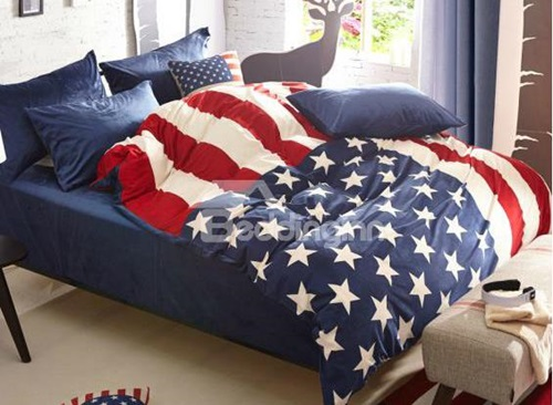 Cozy-Fashion-Stars-Flag-Pattern-4-Piece-Cotton-Duvet-Cover-Sets-11002782