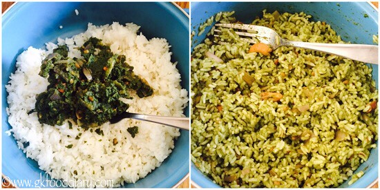 Mint Rice Recipe for Toddlers and Kids - step 6