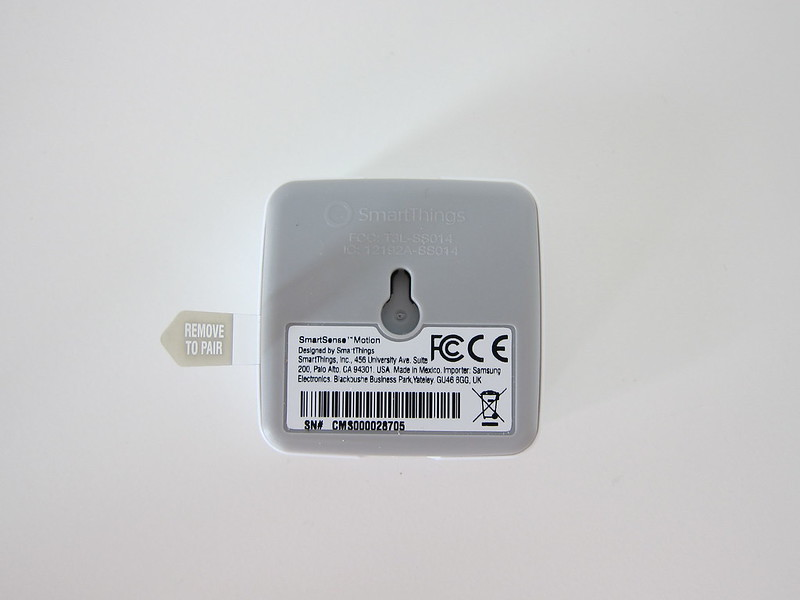 Samsung SmartThings - Motion Sensor - Bottom