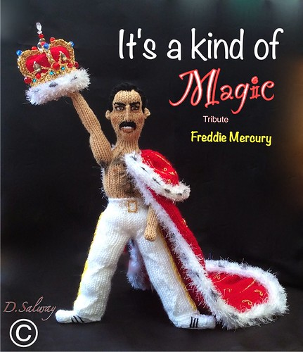 #Freddie #mercury #knitted #doll #dolls #celeb #icon #queen #denise #original #designs #knitting #world #greatesthits