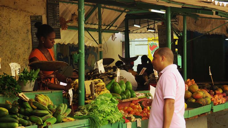Variety of veggies in Cuban market