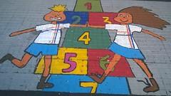 2015 12_Montevideo Vereda pintada Colegio Santo Domingo