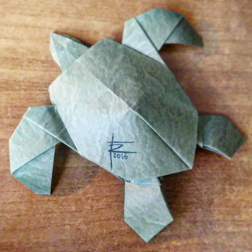 Riccardo foschis most interesting flickr photos picssr refolding of an old model sea turtle origami jeuxipadfo Image collections