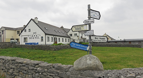 Directional signs in Inisheer, one of the Aran Islands in Ireland