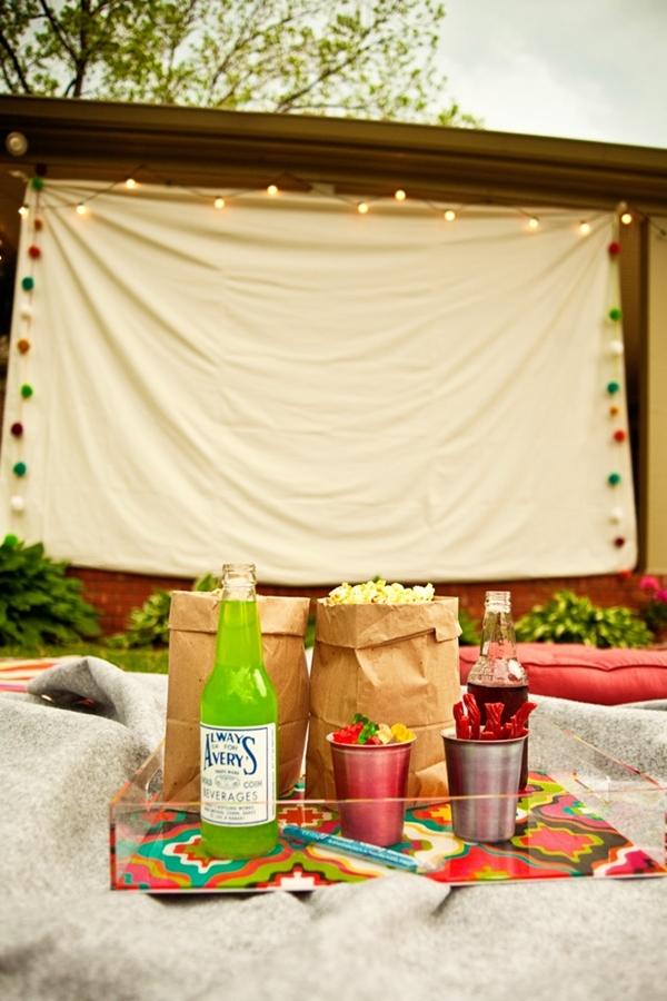 organizar un cine al aire libre en casa (1)