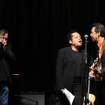 With friends Garland Jeffreys and Southside Johnny at the Edison Ballroom in New York City. May 9, 2013. Photo by Chris Taggart