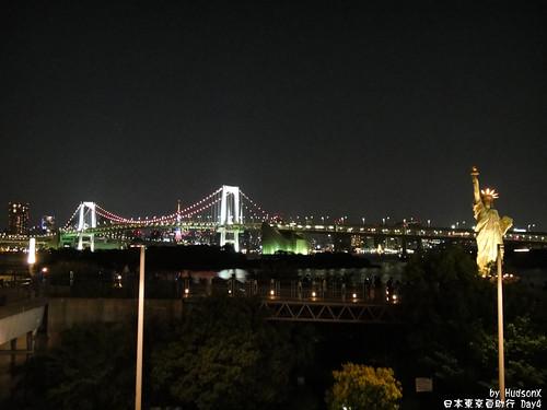 彩虹橋與自由女神夜景