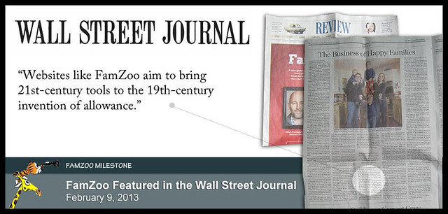 FamZoo Featured in Wall Street Journal