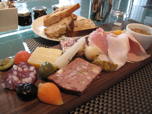 cheese and charcuterie at boulud 6