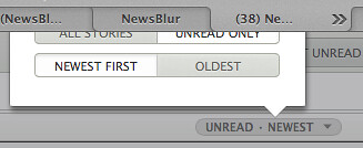 NewsBlur UI glitch