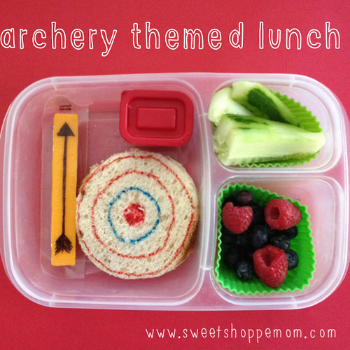 Archery sports themed bento kids lunch