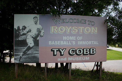 Welcome to Royston Sign with Ty Cobb