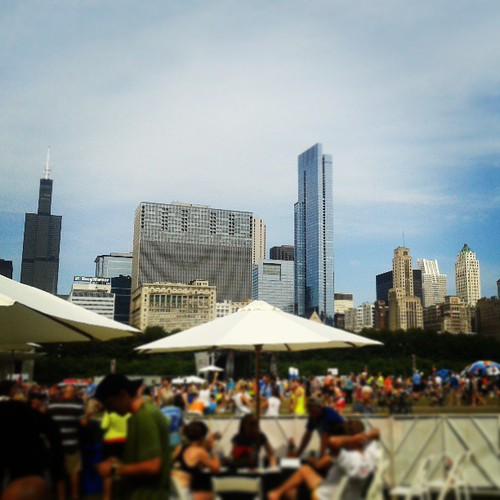 View from the VIP area at #RnRCHI #latergram #sofancy