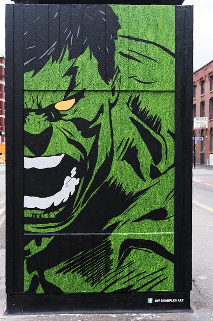 Hulk - by Jay Sharples, Stevenson Square, Manchester
