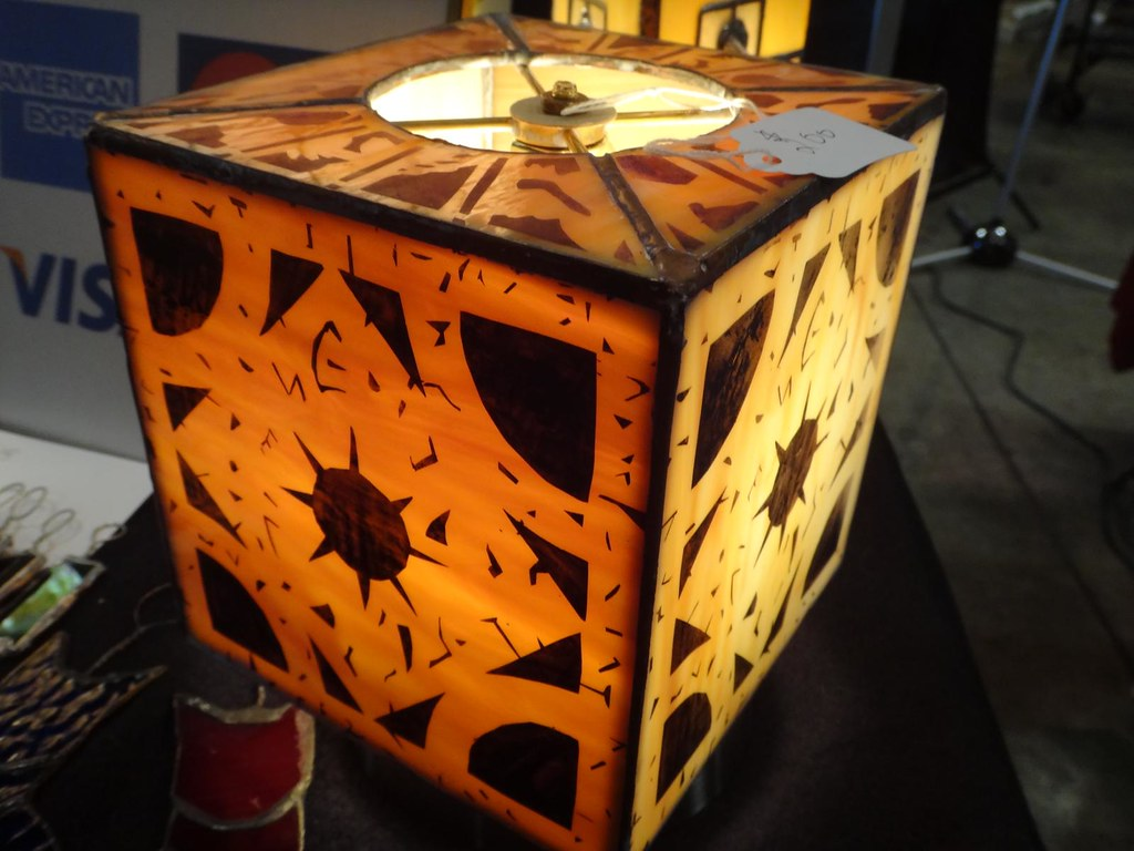 Boston Comic Con 2013 Glass by Joe Hellraiser Box Lament Configuration lamp