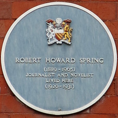 Photo of Robert Howard Spring blue plaque
