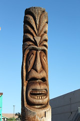 carving, totem pole, art, sculpture, landmark, stele, monument, tiki, totem, monolith, statue,