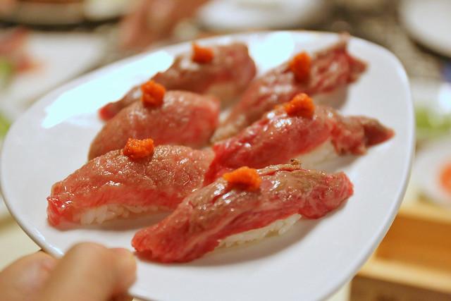 Aburi wagyu sushi (Miyazaki A4 grade)