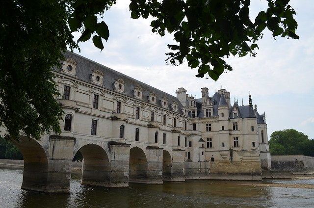 Chateau de Chenonceau as bridge over river