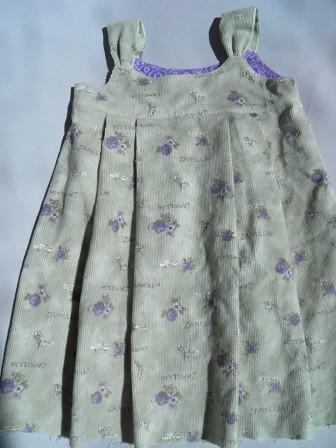 Sage and lavender corduroy jumper